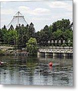 East Riverfront Park And Dam - Spokane Washington Metal Print by Daniel Hagerman
