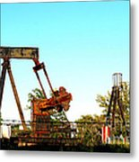 East Texas Oil Field Metal Print by Kathy  White