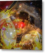 Echoes Of The Red Star Metal Print by Judy Paleologos