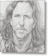 Eddie Vedder Metal Print by Olivia Schiermeyer