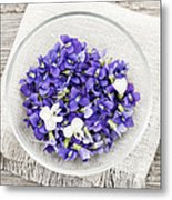 Edible Violets  Metal Print by Elena Elisseeva