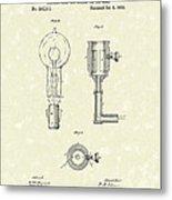 Edison Lamp 1882 Patent Art Metal Print by Prior Art Design