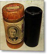 Edison Phonograph Cylinder 9750 Comic Song  Garibaldi  Metal Print by Bill Cannon