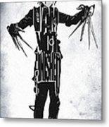 Edward Scissorhands - Johnny Depp Metal Print by Ayse Deniz
