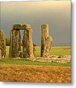 Eerie Stonehenge 3 Metal Print by Deborah Smolinske