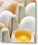 Eggs In Box Metal Print by Elena Elisseeva