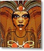 055 - Egyptian Woman Warrior Magic   Metal Print by Irmgard Schoendorf Welch
