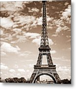 Eiffel Tower In Sepia Metal Print by Elena Elisseeva