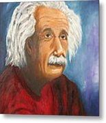 Einstein Metal Print by Doris Cohen
