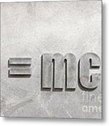 Einstein Sculpture Emc2 Canberra Australia Metal Print by Colin and Linda McKie