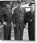 Eisenhower & Marshall 1944 Metal Print by Granger
