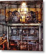 Electrician - Turbine Station Metal Print by Mike Savad