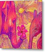 Elephant Love Metal Print by Jane Schnetlage