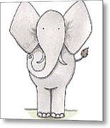 Elephant Nursery Art Metal Print by Christy Beckwith
