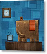 Elephant On The Wall Metal Print by Gianfranco Weiss