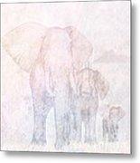 Elephants - Sketch Metal Print by John Edwards