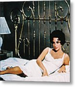 Elizabeth Taylor In Cat On A Hot Tin Roof  Metal Print by Silver Screen