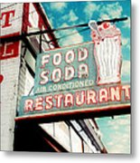 Elliston Place Soda Shop Metal Print by Amy Tyler
