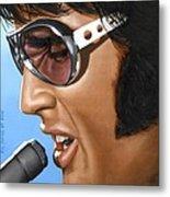 Elvis 24 1970 Metal Print by Rob De Vries