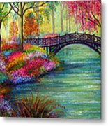 Elysian Bridge Metal Print by Ann Marie Bone