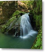 Emerald Waterfall Metal Print by Davorin Mance