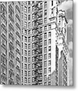 Emergency Exit Chicago Il Metal Print by Christine Till