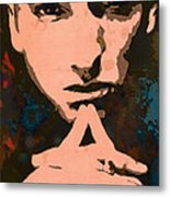 Eminem - Stylised Pop Art Poster Metal Print by Kim Wang