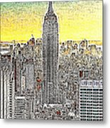 Empire State Building New York City 20130425 Metal Print by Wingsdomain Art and Photography
