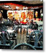 Empty Restaurant Metal Print by Robert Smith