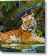 Enchaned Tigress Metal Print by Alixandra Mullins
