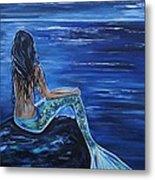 Enchanting Mermaid Metal Print by Leslie Allen