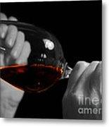 Enjoying Wine Metal Print by Patricia Hofmeester