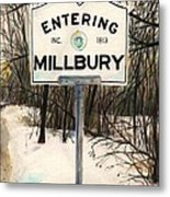 Entering Millbury Metal Print by Scott Nelson