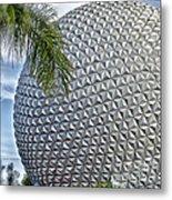 Epcot Globe Metal Print by Thomas Woolworth