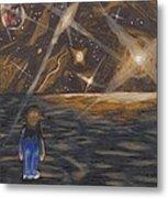 Etestska Lying On Pluto Metal Print by Keith Gruis