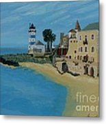 European Lighthouse Metal Print by Anthony Dunphy