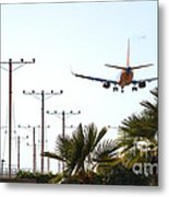 Even Airplanes Obey Traffic Signs Metal Print by Deborah Smolinske