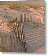Evening At The Beach Metal Print by Maria Suhr