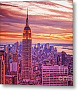 Evening In New York City Metal Print by Sabine Jacobs