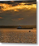 Evening Mariners Puget Sound Washington Metal Print by Jennie Marie Schell