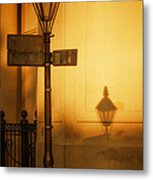 Evening Shadow In Jackson Square Metal Print by Brenda Bryant