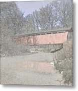 Everett Covered Bridge Metal Print by Jack R Perry
