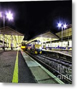 Exeter St Davids By Night  Metal Print by Rob Hawkins