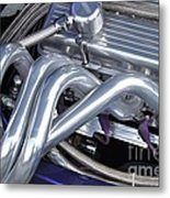 Exhaust Manifold Hot Rod Engine Bay Metal Print by Allen Beatty