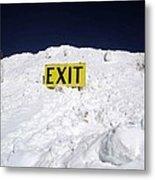 Exit Metal Print by Fiona Kennard