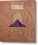 Exodus Books Of The Bible Series Old Testament Minimal Poster Art Number 2 Metal Print by Design Turnpike