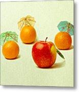 Exotic Fruit - Square Metal Print by Alexander Senin