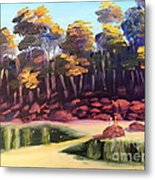 Exploring On Echo Beach Metal Print by Pamela  Meredith