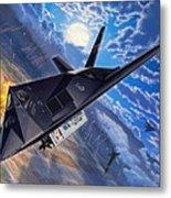 F-117 Nighthawk - Team Stealth Metal Print by Stu Shepherd