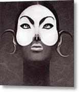 Face Moon Metal Print by Yosi Cupano